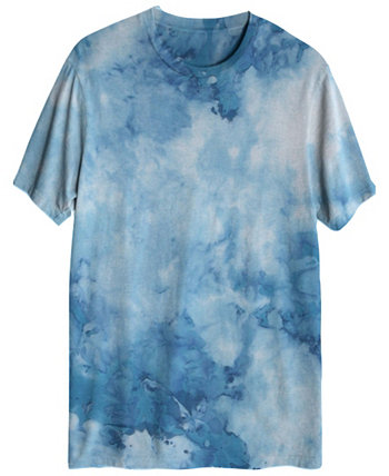 Мужская футболка Cloudy с коротким рукавом и принтом тай-дай Hybrid