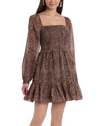 Мини-платье со сборками с животным принтом 1.STATE