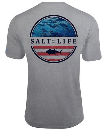Мужская футболка с рисунком Respect Slx UPF Performance Salt Life