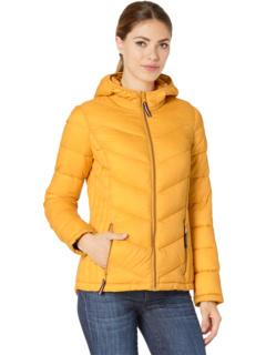 Короткая стеганая складная куртка с капюшоном Tommy Hilfiger