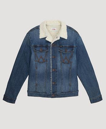Мужская джинсовая куртка на подкладке из шерпы Wrangler