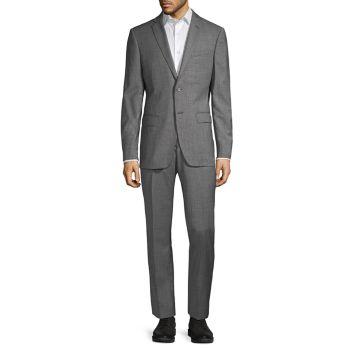 Стандартный костюм в клетку из смесовой шерсти John Varvatos Star U.S.A.