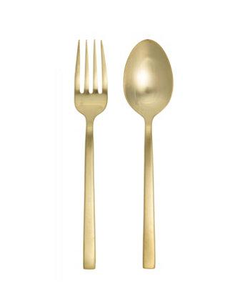 Сервировочный набор из 2 предметов Arezzo Brushed Gold Fortessa