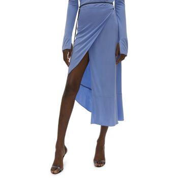 Прозрачная юбка с запахом Helmut Lang