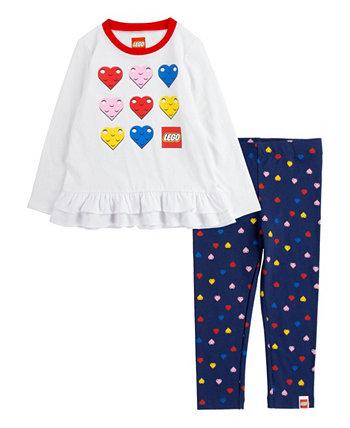 Леггинсы Little Girls X Lego Heart, набор из 2 предметов Converse