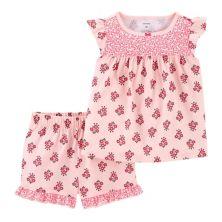 Toddler Girl Carter's 2 Piece Floral Pajama Set Carter's