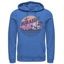 """Мужская толстовка с капюшоном и пуловером с принтом """"Парк Юрского периода"""" Pink Gradient Sunset Get Wild с рисунком Jurassic World"""
