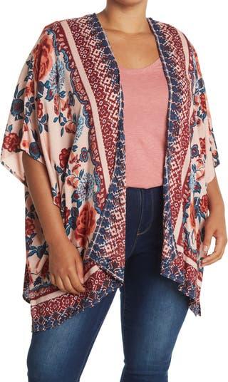 Floral Print Kimono SKY AND SAND