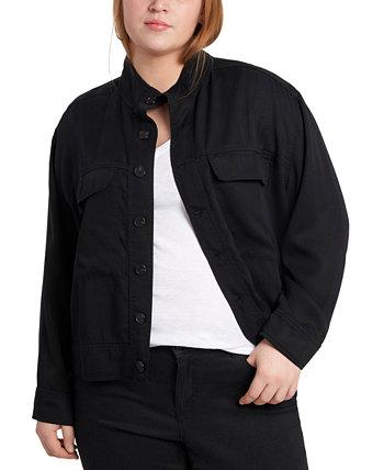 Куртка больших размеров с воротником-стойкой 1.STATE