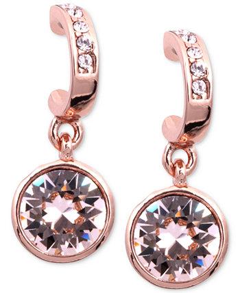 Серьги, серьги-капли из розового золота Сваровски с кристаллами Сваровски Givenchy