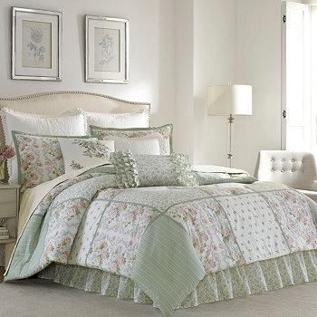 Зеленое одеяло Queen Harper Laura Ashley