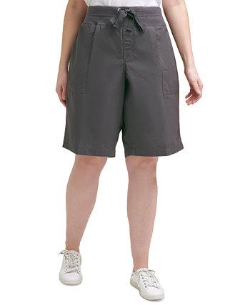 Хлопковые трансформируемые шорты-бермуды больших размеров Calvin Klein