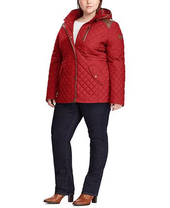 Стеганое пальто-анорак с капюшоном большого размера, созданное для Macy's Ralph Lauren