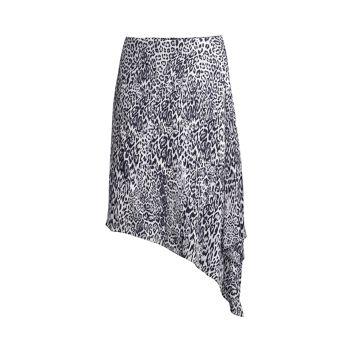 Асимметричная юбка миди с леопардовым принтом Alexa Elie Tahari