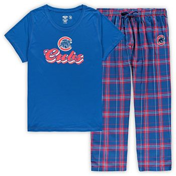 Women's Concepts Sport Royal Chicago Cubs Plus Size T-Shirt and Flannel Pants Sleep Set Unbranded