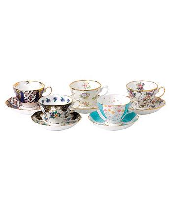 Набор чашки и блюдца из 5 предметов 100 Years 1900-1940 Royal Albert