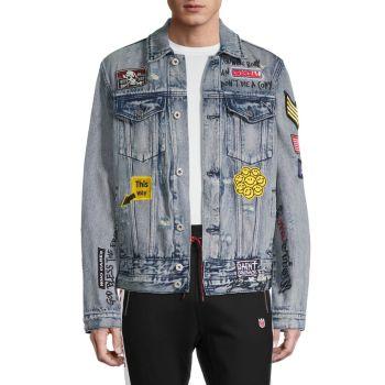 Джинсовая куртка с нашивкой-граффити Cult Of Individuality