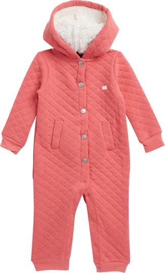 Faux Fur Lined Velour Quilted Jumpsuit 7 For All Mankind