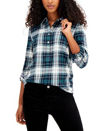 Клетчатая рубашка Popover Tommy Hilfiger