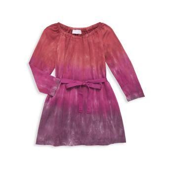 Маленькая девочка & amp; Платье для девочек с поясом тай-дай Bella dahl