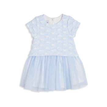 Платье с сердечками двойной вязки для маленьких девочек Pippa & Julie