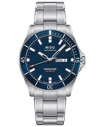 Мужские швейцарские автоматические часы-браслет из нержавеющей стали Ocean Star Captain V 42,5 мм MIDO
