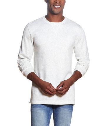 Мужская футболка с вафельным вырезом и круглым вырезом Weatherproof Vintage