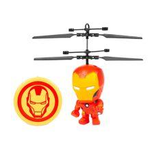 World Tech Toys Marvel Iron Man 3.5 Inch Flying Figure IR UFO Big Head Helicopter World Tech Toys