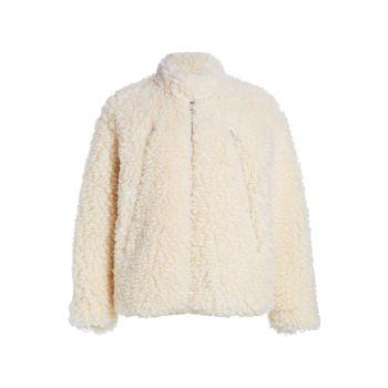 Спортивная куртка из искусственной овчины MM6 Maison Margiela