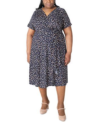 Платье большого размера с принтом и пышной юбкой Robbie Bee