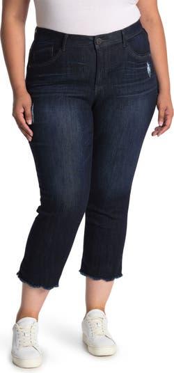 Узкие прямые укороченные джинсы AB Tech с высокой посадкой и гребешком Democracy