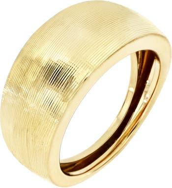 Текстурированное купольное кольцо из желтого золота 585 пробы Bony Levy