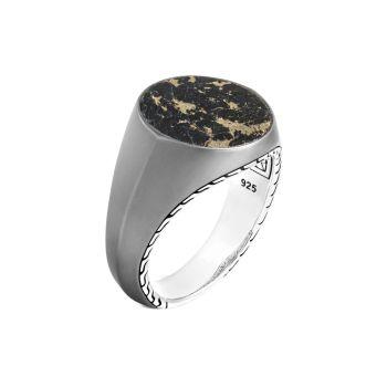 Серебро 925 пробы и Золотое кольцо с печаткой Apache JOHN HARDY