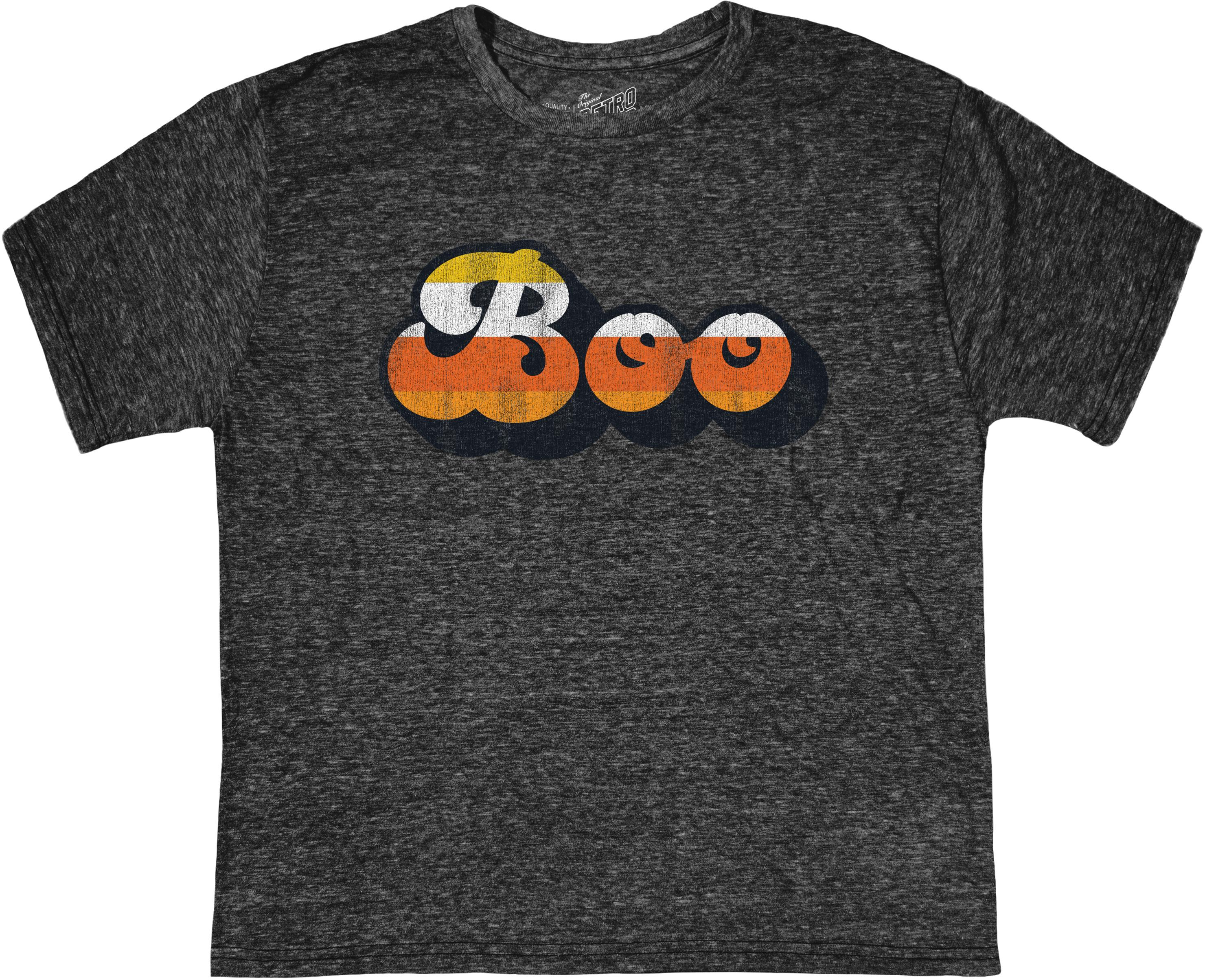 Футболка с круглым вырезом Tri-Blend Boo на Хэллоуин (для детей) The Original Retro Brand Kids
