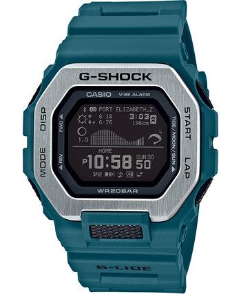 Мужские часы Connected Digital G-Lide с синим полимерным ремешком, 46 мм G-Shock