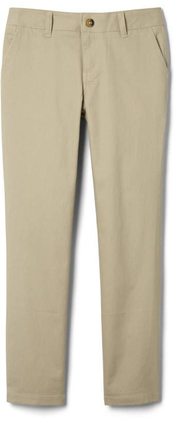 Plus Size Adjustable Waist Stretch Twill Straight Leg Pants (Big Kids) French Toast