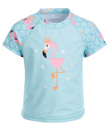Рашгард с короткими рукавами и принтом фламинго для девочек Miken