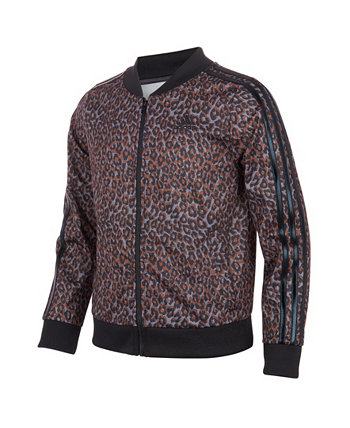 Трикотажная куртка с принтом для больших девочек Adidas
