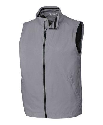 Мужской Большой и Высокий Девятый Железный Полный Zip Vest Cutter & Buck