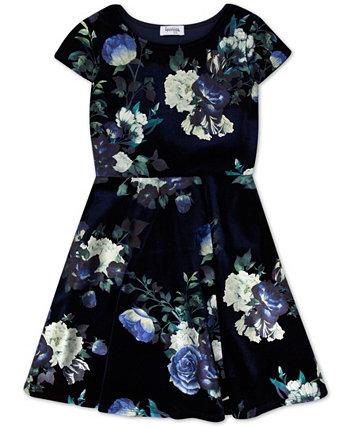 Бархатное платье с цветочным рисунком для больших девочек Speechless