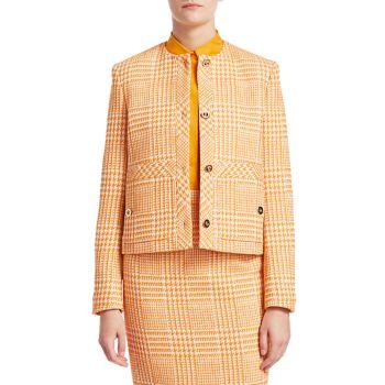 Укороченная куртка в клетку Beran Glen ESCADA