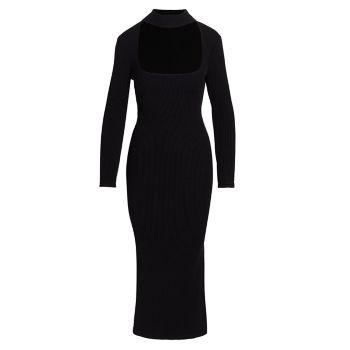 Платье Kenny с вырезом в рубчик Jonathan Simkhai