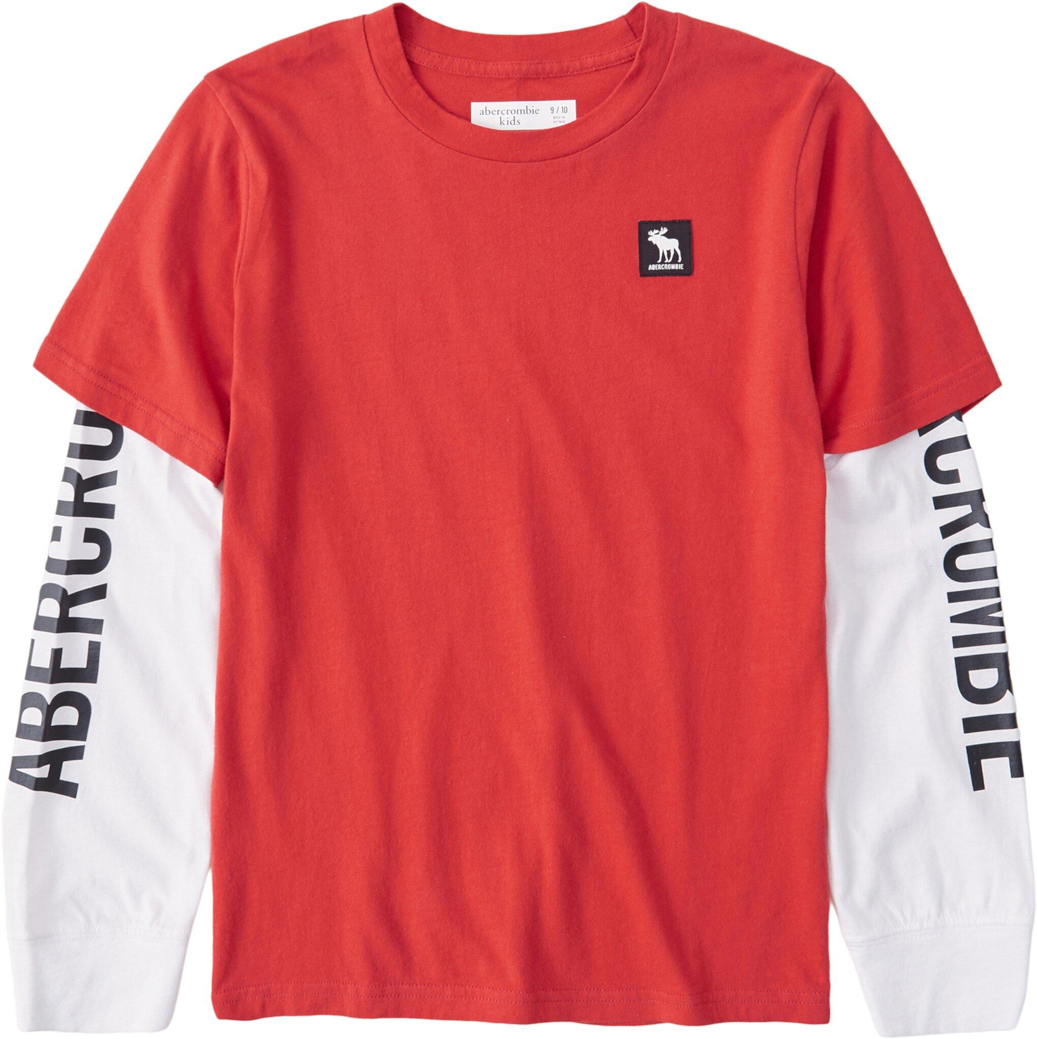 Футболка с длинным рукавом и принтом с логотипом (для детей младшего и школьного возраста) Abercrombie kids