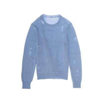 Рваный вязаный свитер Helmut Lang