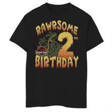 Футболка для мальчиков 8-20 Jurassic Park Rawrsome 2nd Birthday с рисунком Jurassic Park