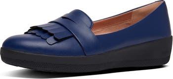 Vianne Fringe Trim Sneaker Loafer FitFlop