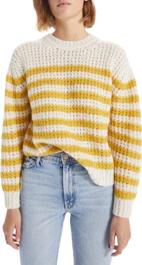 The Jumper Stripe Alpaca Blend Sweater MOTHER
