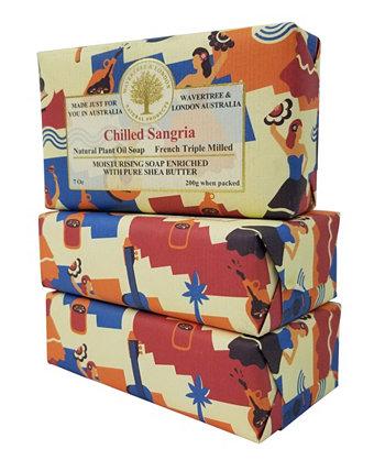 Охлажденное мыло Сангрия с пакетом из 3, каждый 7 унций Wavertree & London