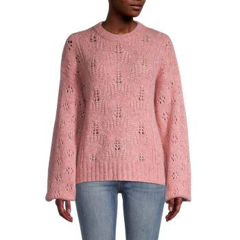 Свободный вязаный свитер из смесовой шерсти Tulip Joie
