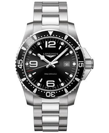 Мужские швейцарские часы HydroConquest из нержавеющей стали с браслетом 44 мм L38404566 Longines